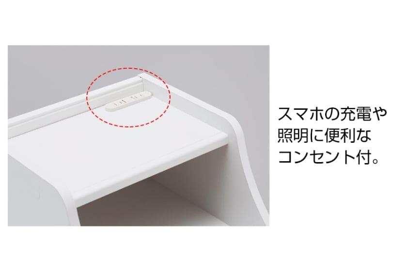 ナイトテーブル レトロア RTA-6040H(ホワイト)
