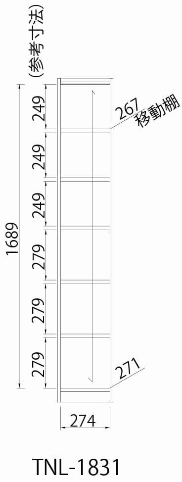 オープンラック タナリオ TNL−1831 DK
