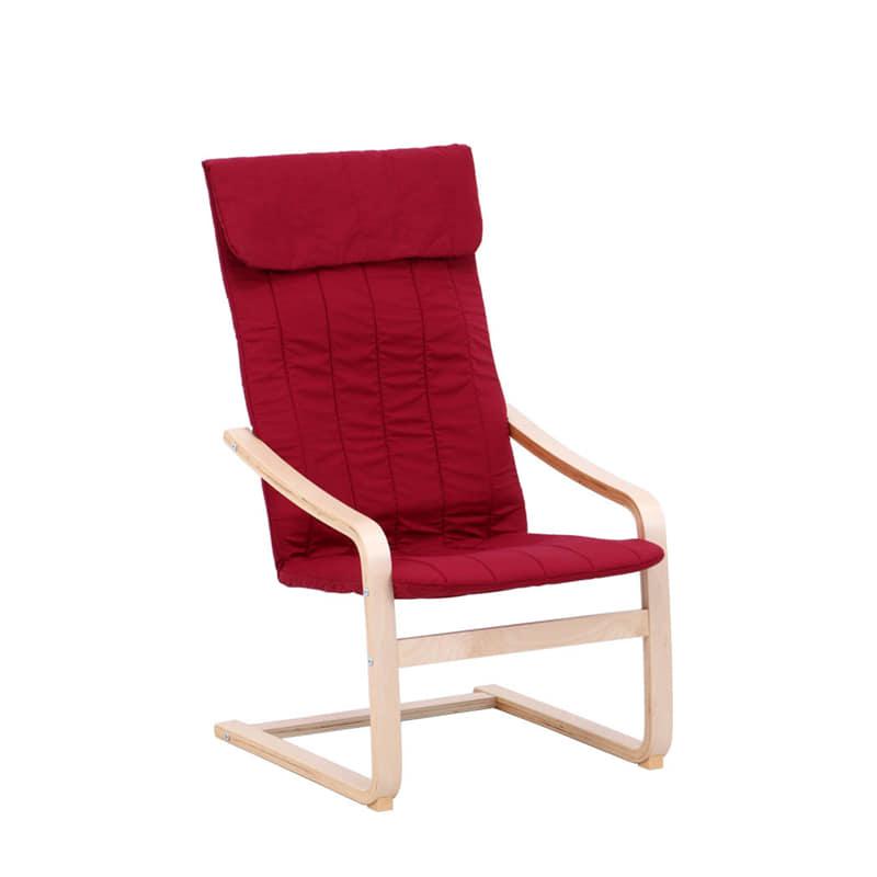 リラックスチェアー スリム ワインレッド:◆シンプル&カジュアルなデザインが魅力のリラックスチェアです