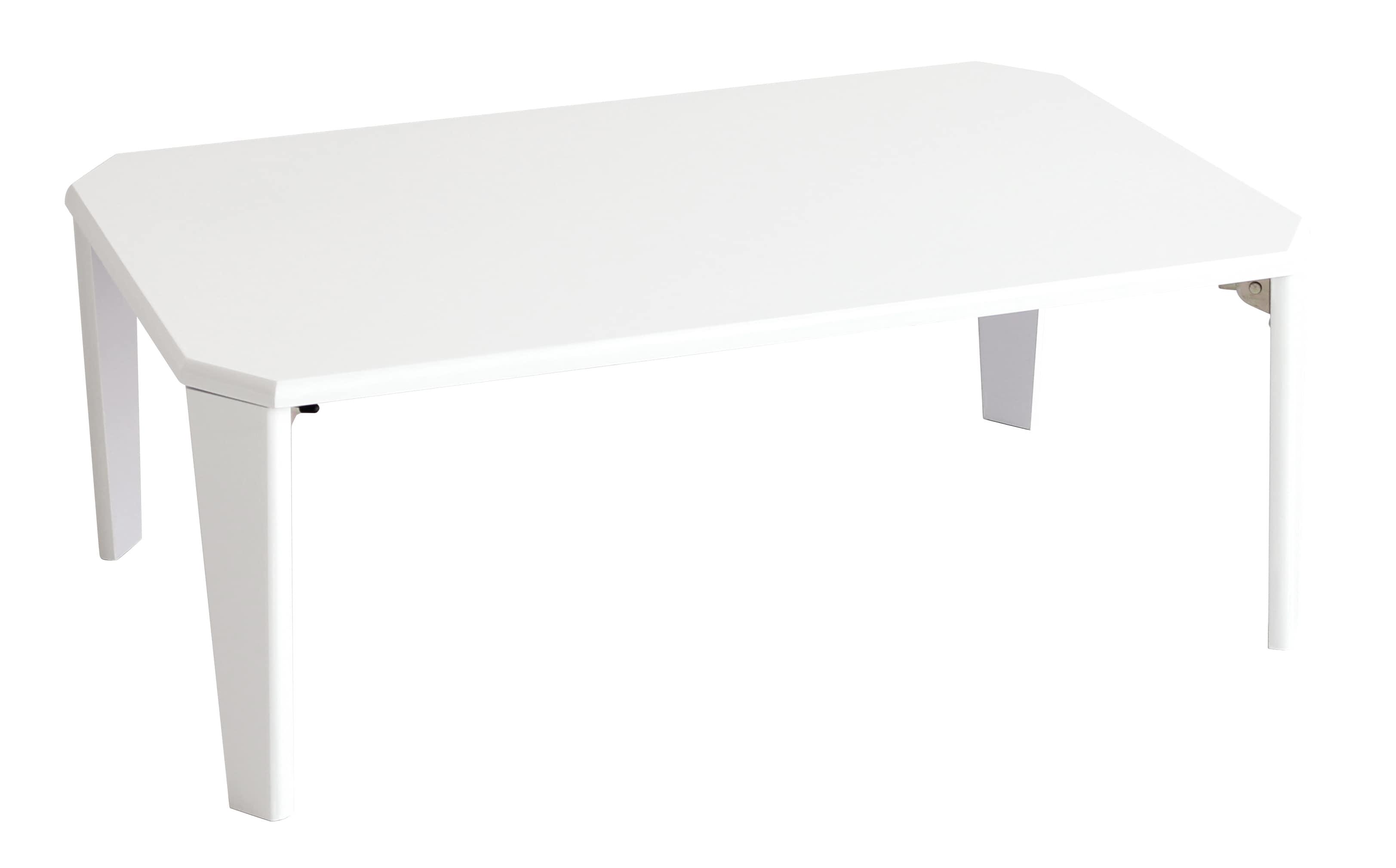 鏡面折りたたみテーブル90 20−171WH (WH(ホワイト))