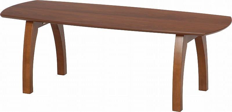 折れ脚リビングテーブル ノルン 96117 ダークブラウン:折れ脚センターテーブル
