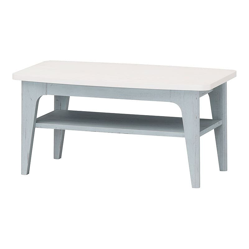 ローテーブル フレンチシャビー FRS-8040T(ブルー&ホワイト)