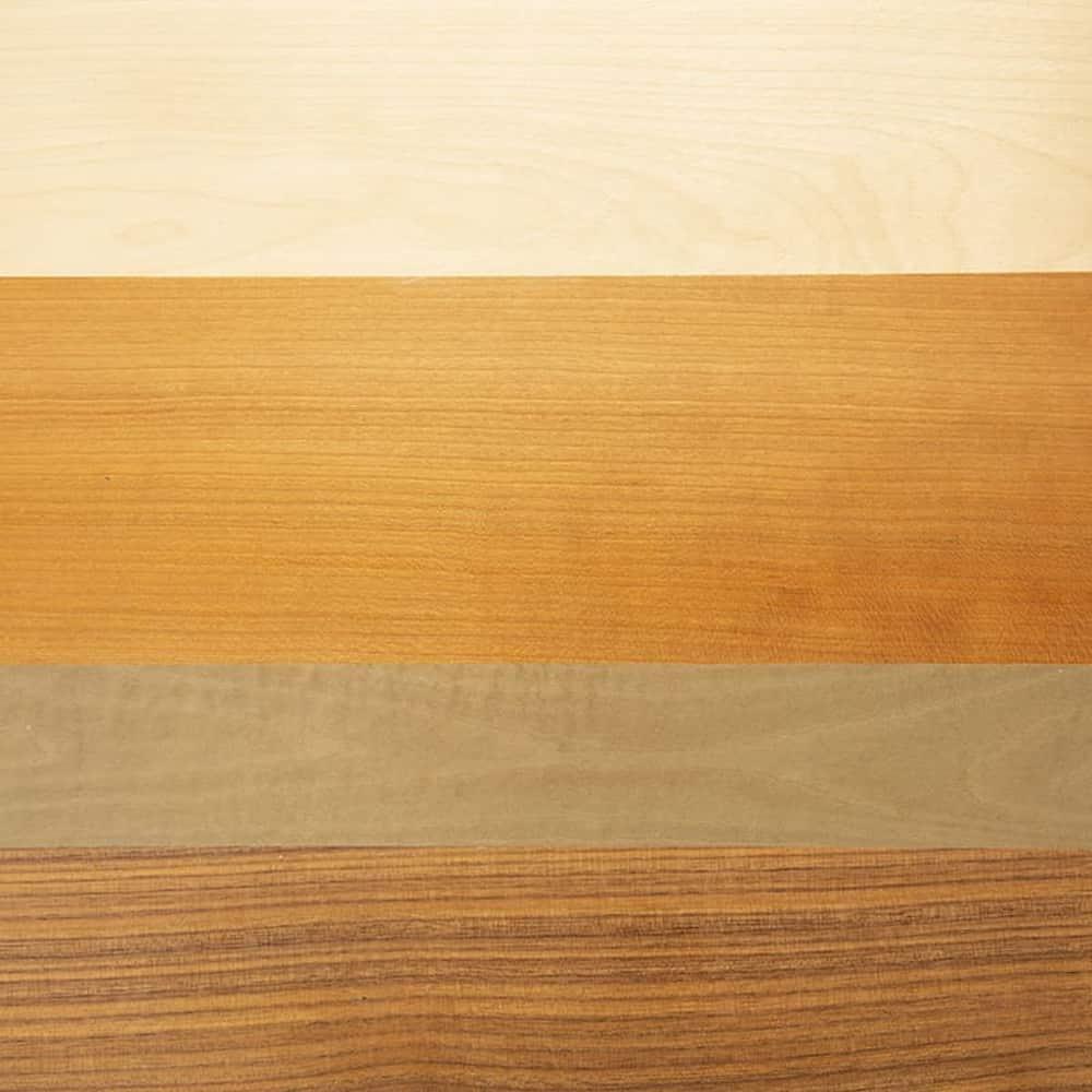 :4種類の木材使用でオシャレデザイン