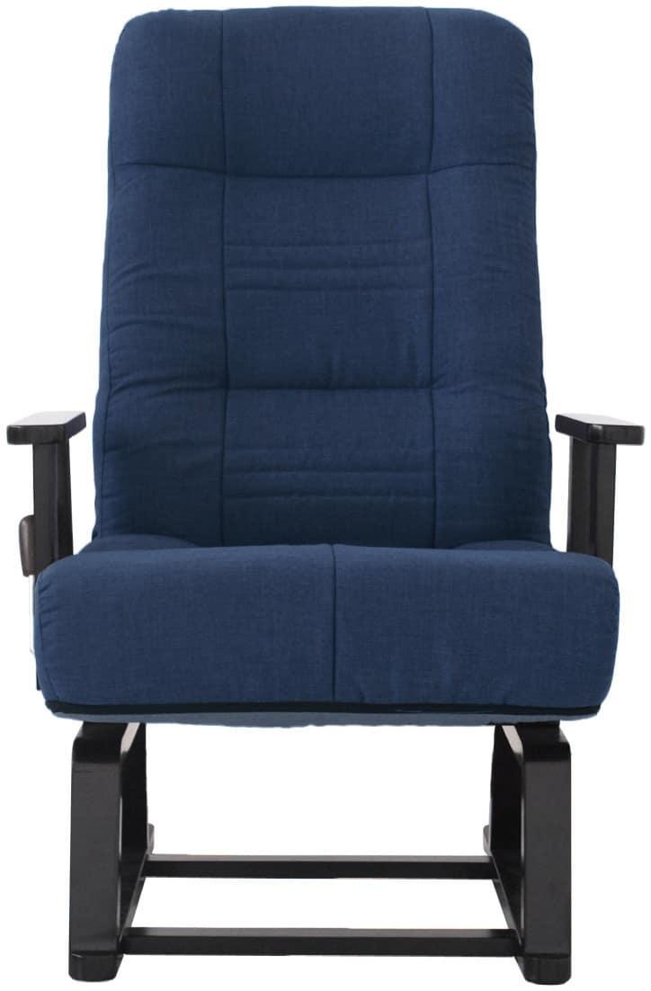 コイルバネ回転高座椅子 晶 83−992 BL