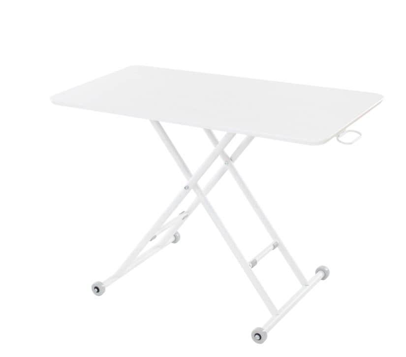 リフティングテーブルルイーズオークWH 27−819ホワイト