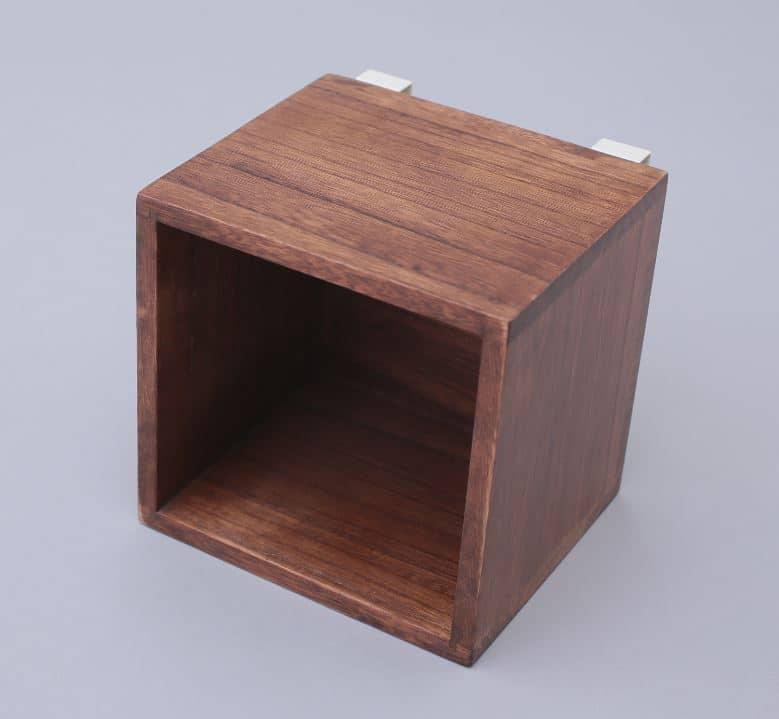すのこに掛けられる家具 箱1マス ダークブラウン