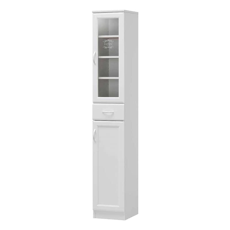 食器棚 セシルナ CEC-1830DGH:◆明るく清潔感いっぱいのホワイトキッチン収納。