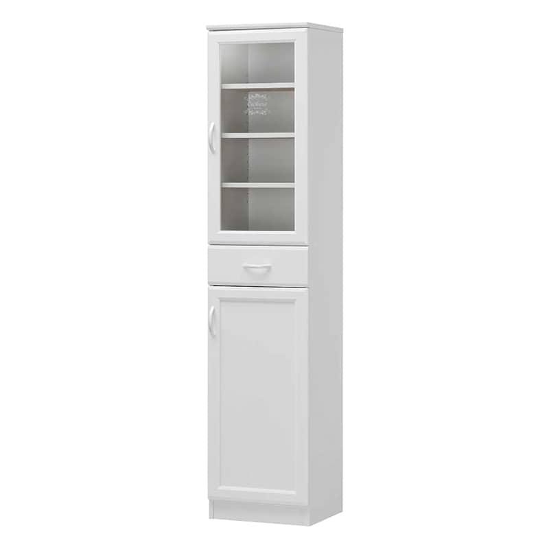 食器棚 セシルナ CEC-1840DGH:◆明るく清潔感いっぱいのホワイトキッチン収納。