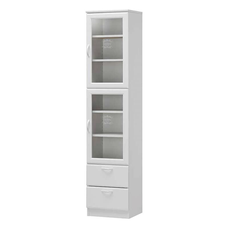 食器棚 セシルナ CEC-1840WGH:◆明るく清潔感いっぱいのホワイトキッチン収納。