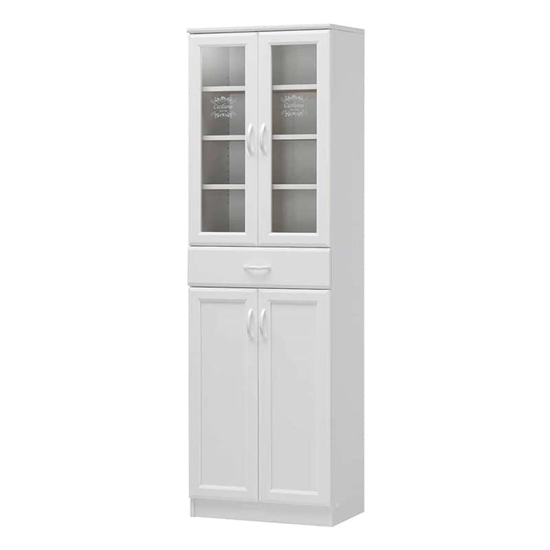 食器棚 セシルナ CEC-1855DGH F:◆明るく清潔感いっぱいのホワイトキッチン収納。