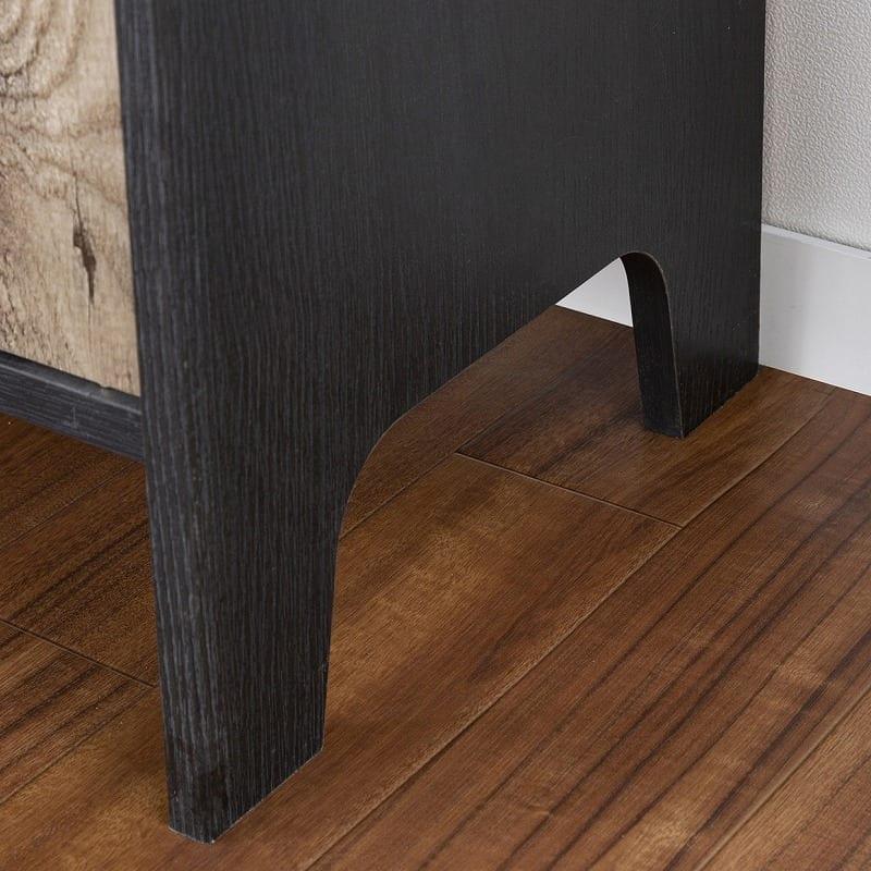 ミドルボード ビエンテージ VNT-7085D(ブラック×グレー):脚が特徴的