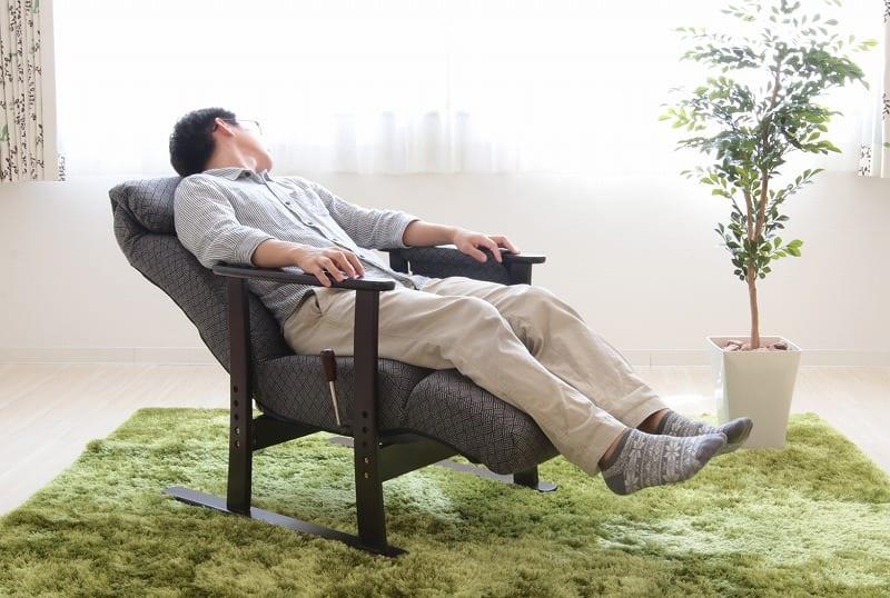 フットレスト付高座椅子 梢 GY