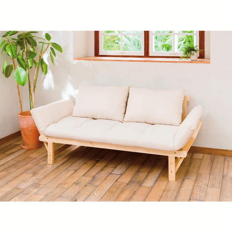 木製ソファベッド ペインBE (ZF−501)