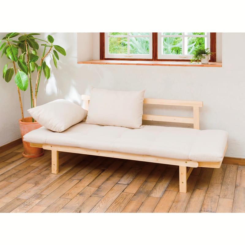 木製ソファベッド ペインGR (ZF−501)