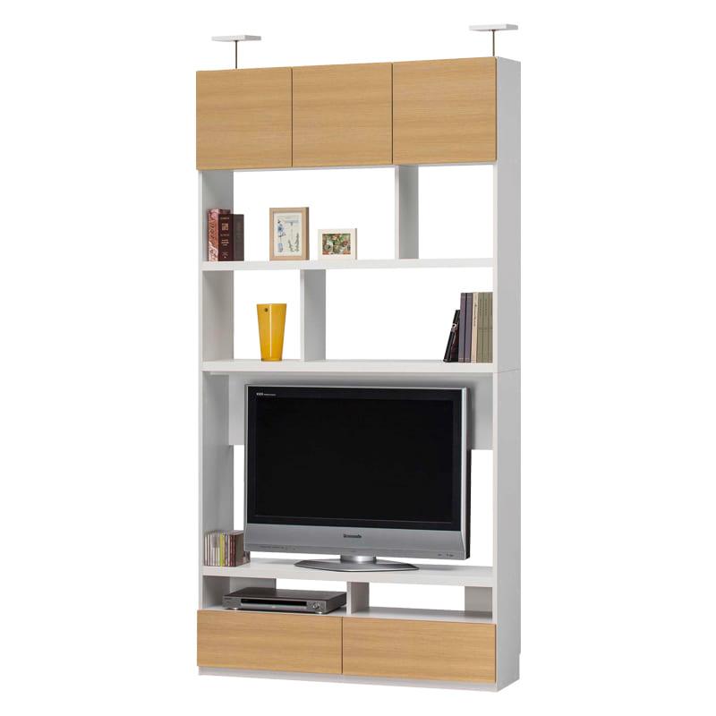 壁面テレビボード リビュアル LVA-2412TV NA:壁面テレビボード  ※小物類はイメージです。