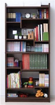 本を仕切れる書棚 CFP−1880 ウォルナット