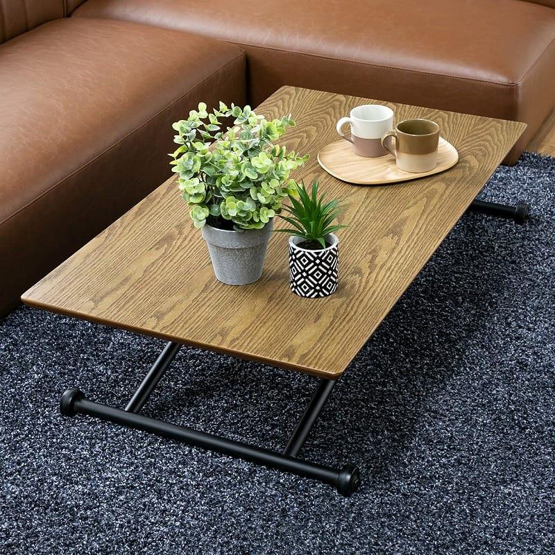 昇降テーブル バウム ナチュラル:無駄のないシンプルなデザイン