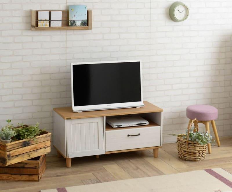 テレビ台 バイリー BY48−100L WH/NA:テレビ台 ※画像はイメージです