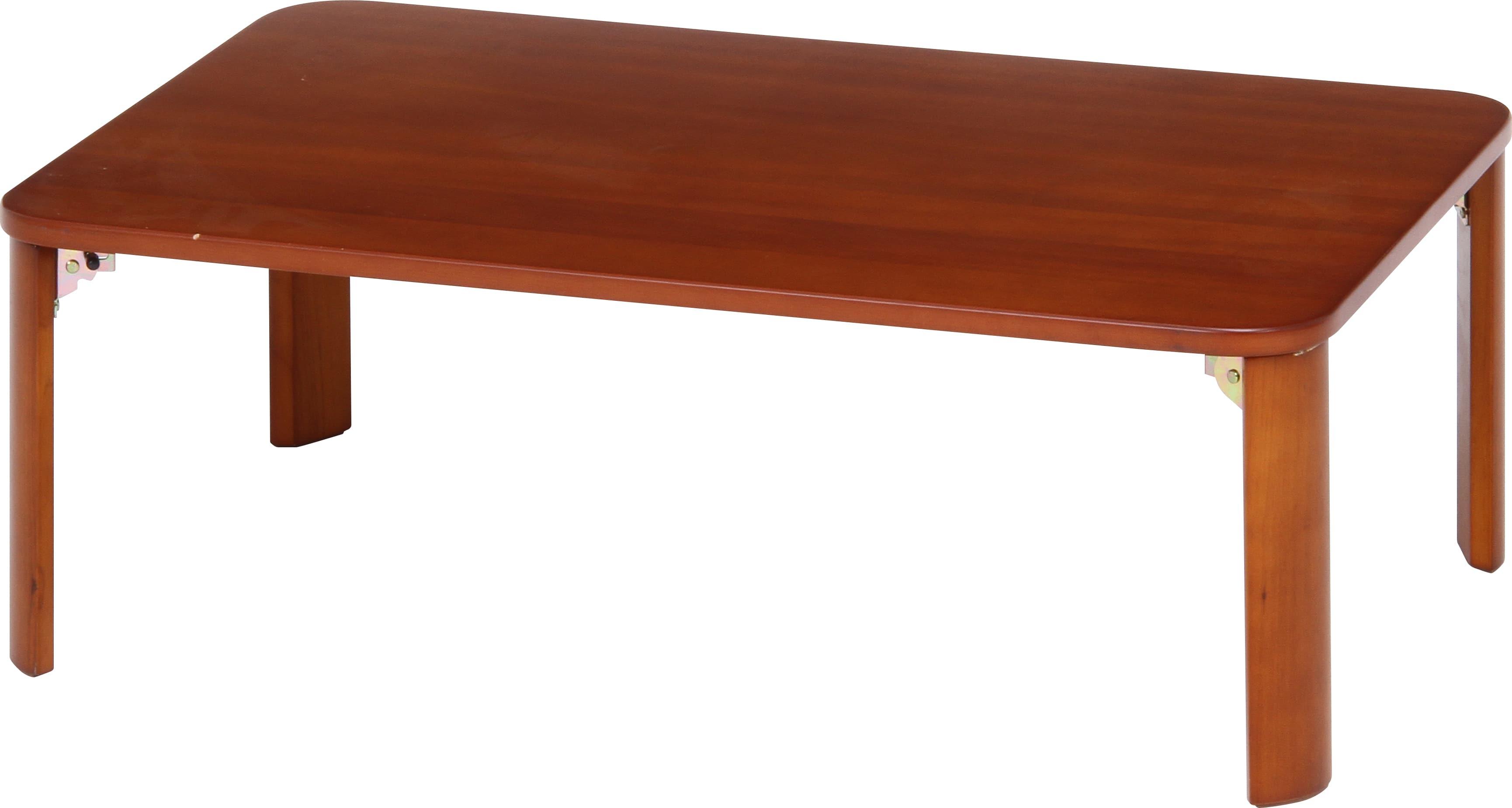 折脚ローテーブル9060BRブラウン