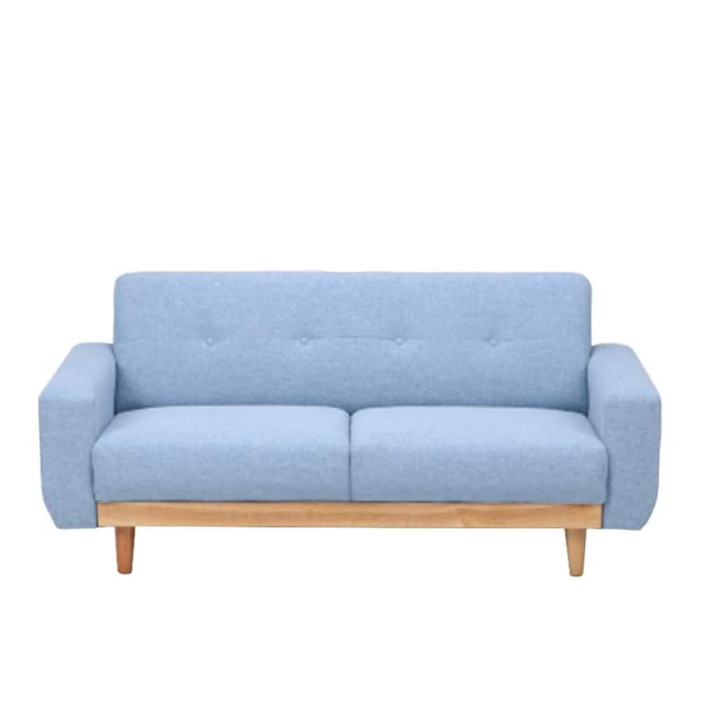 【ファブリック】2.5人掛けソファー ブランチ BL/NA(ブルー・ウッドNA):コンパクトタイプのソファー ※画像はイメージです