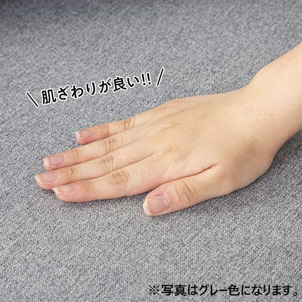 【ファブリック】2.5人掛けソファー ブランチ BL/NA(ブルー・ウッドNA):ファブリック生地