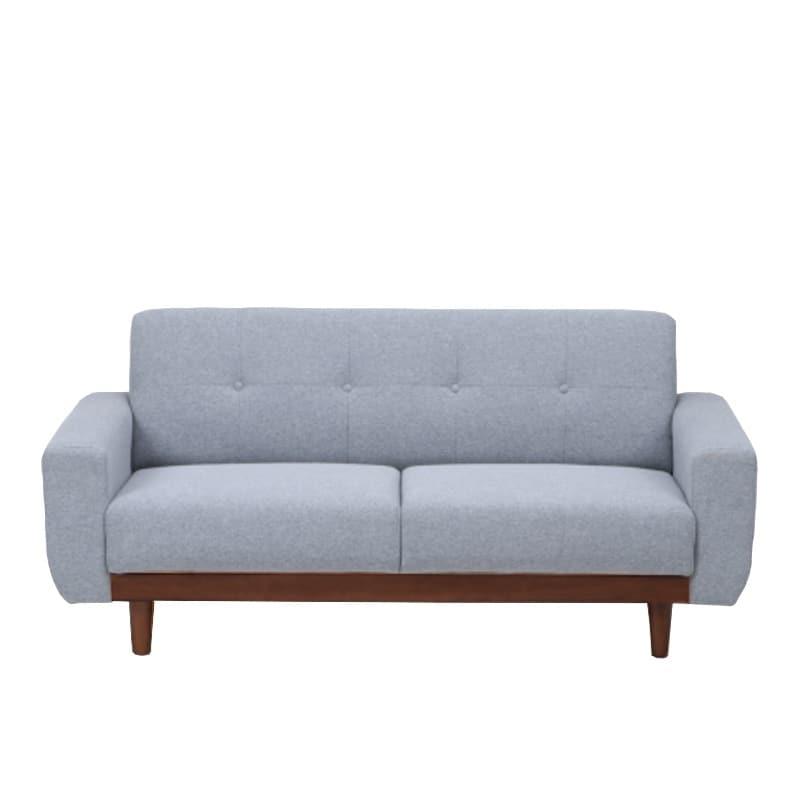 【ファブリック】2.5人掛けソファー ブランチ GY/BR(グレー・ウッドBR):コンパクトタイプのソファー