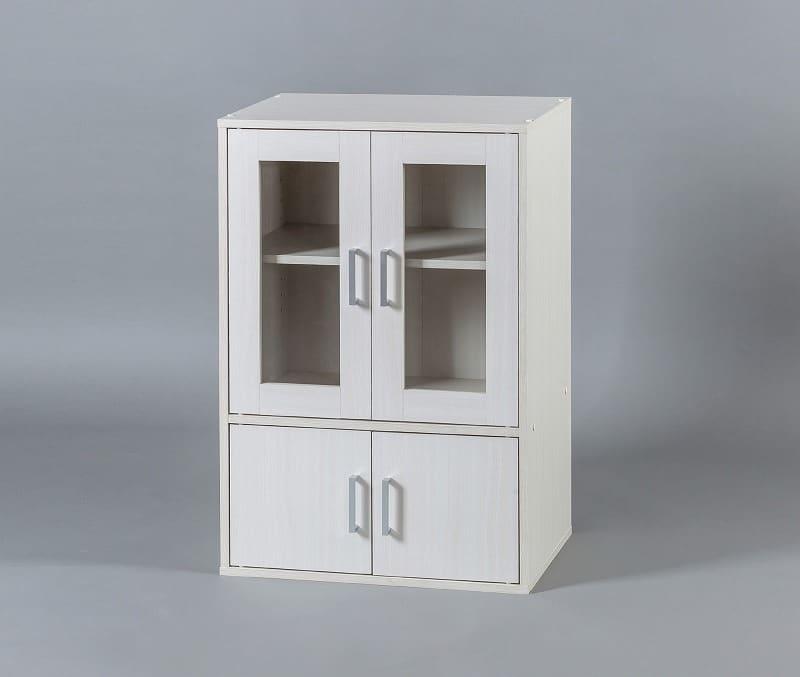 ガラスキャビネット GKN−9060 WH:《シンプルなデザインで、どのお部屋の雰囲気にも合うガラスキャビネット》