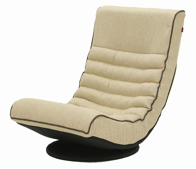 Harmonia フロアチェア BE:《座面に収まる包み込まれるような座り心地のフロアチェア》