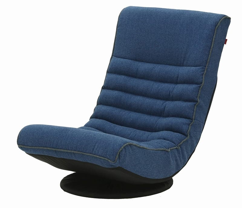 Harmonia フロアチェア BL:《座面に収まる包み込まれるような座り心地のフロアチェア》