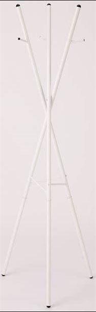 スチールポールハンガー ポラール ND‐9211ホワイト