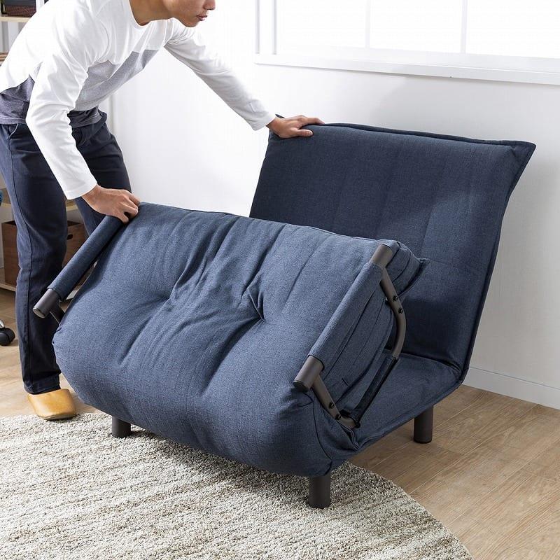 ソファーベッド NSFB−80S(BE):畳んだり、広げたり