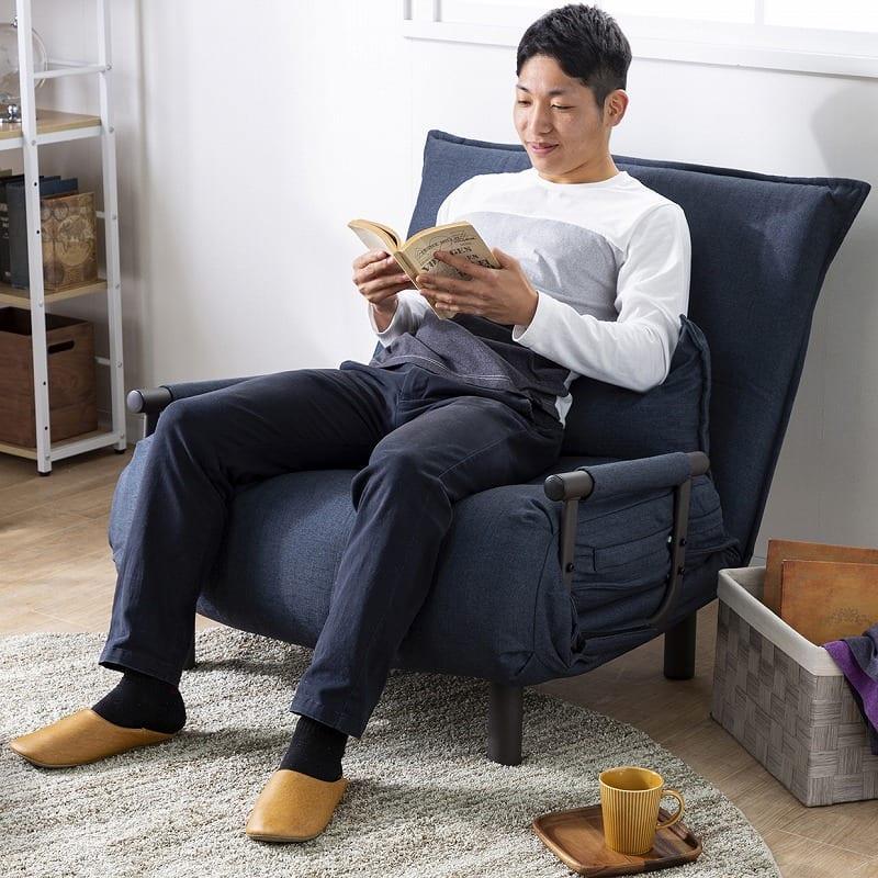 ソファーベッド NSFB−80S(BE):ソファにしても座り心地しっかり