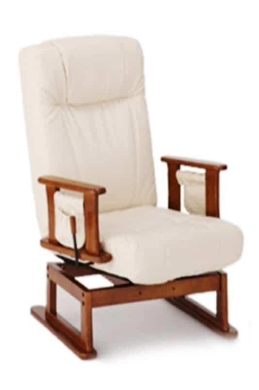 回転高座椅子 ターロチェア BAN0182IVアイボリー