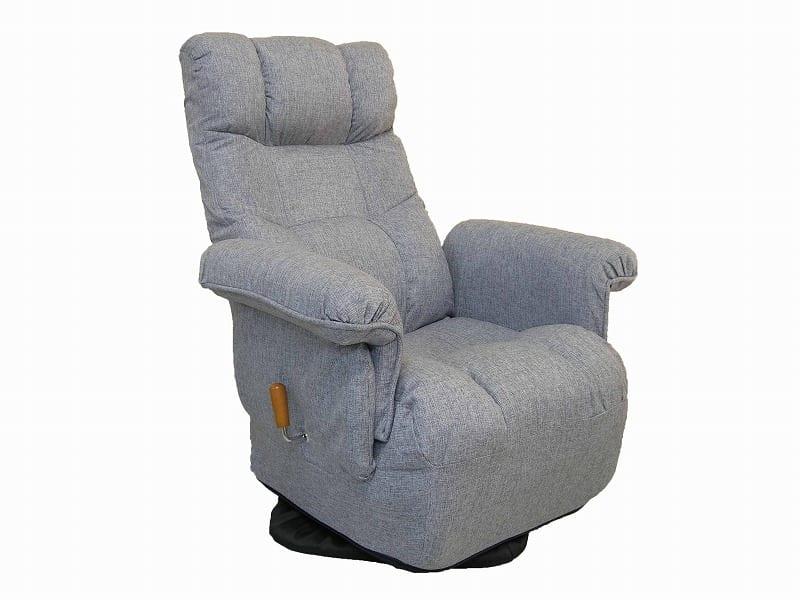 ガス圧式肘付回転高座椅子 ロゼア GRY
