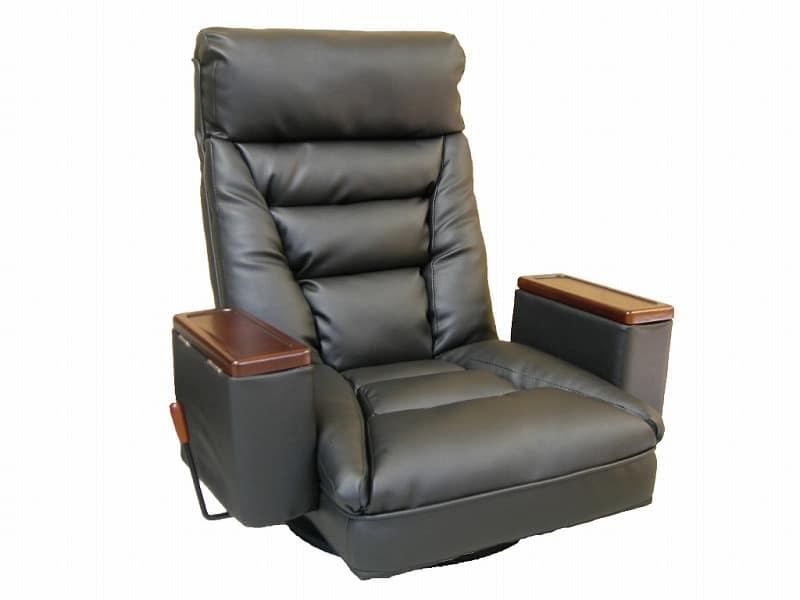 ガス圧式肘付回転座椅子 アリオン�U BK:《しなやかな合皮と復元力の高い長繊維綿で柔らかな座り心地》