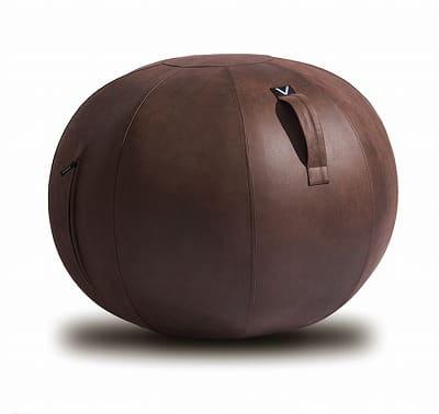 シーティングボール レザーレットBR:《ボディバランスのケアとしても使える「シーティングボール」》