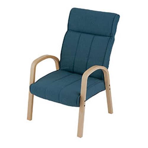 木製肘付き高脚座椅子NV MHHCN−NVネイビー