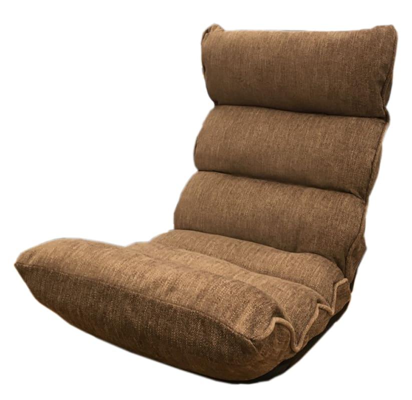 もこもこ脚楽低反発座椅子 HML−フレディ DBR SH16:《フラットにしなくても楽々リクライニング14段階》