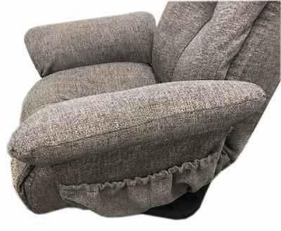 ガス式肘付回転座椅子 GLK−クロード DBRダークブラウン