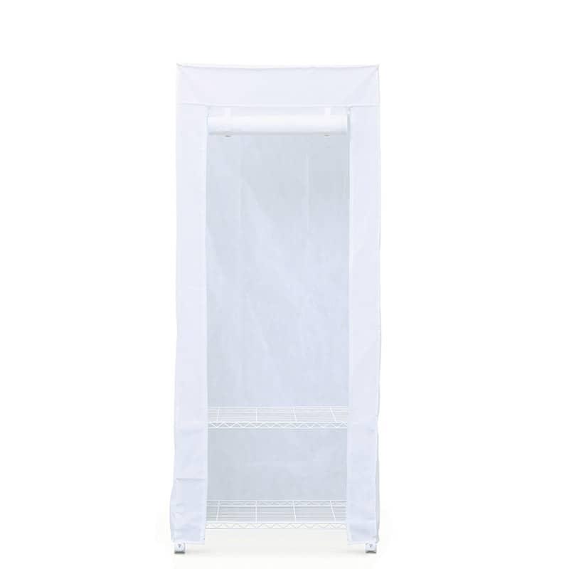 カラーメタル ワードローブ カバー付き CMW−75183C ホワイト:収納に悩んでいる方におすすめの商品
