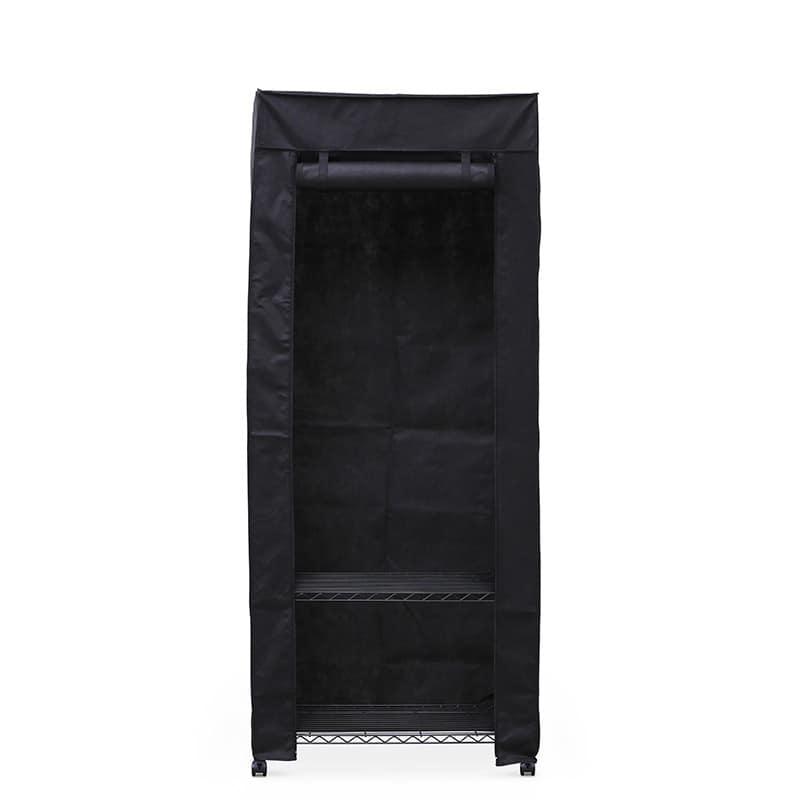 カラーメタル ワードローブ カバー付き CMW−75183C ブラック:収納に悩んでいる方におすすめの商品