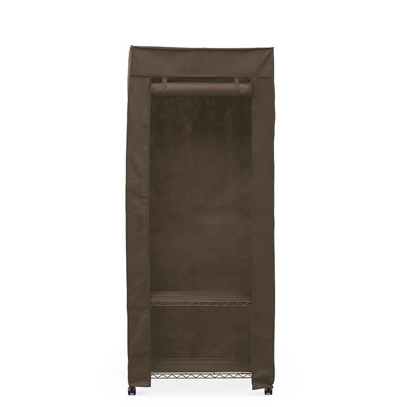 カラーメタル ワードローブ カバー付き CMW−75183C ブラウン:収納に悩んでいる方におすすめの商品