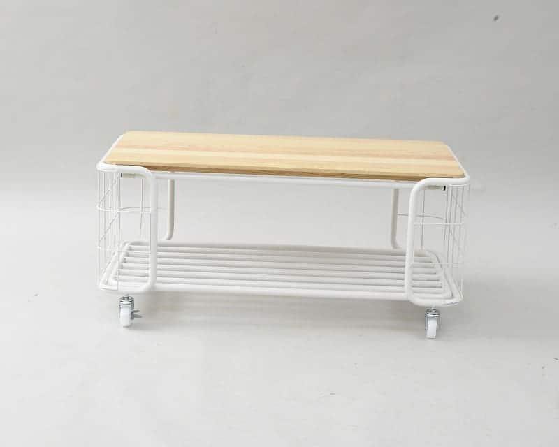 トローリーセンターテーブル 90幅BCT−9040(WH)