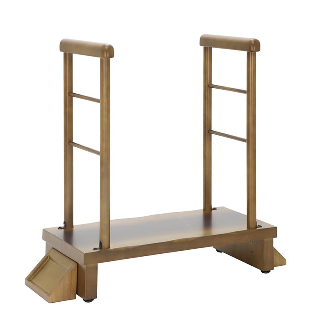 睡蓮 両手すり付玄関台 74−115:◆厚み4�pの玄関台は頑丈で、重厚感もあります。