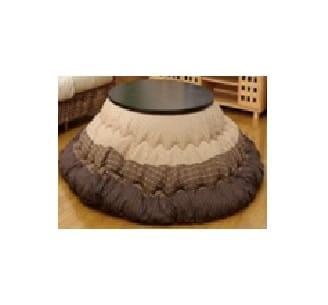 コタツ掛 ゆかり 205丸 BR:静電気が発生しにくい綿素材