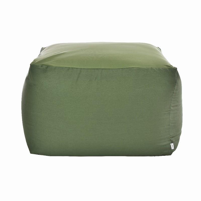 ビーズクッション アースカラーキューブチェアMサイズ グリーン