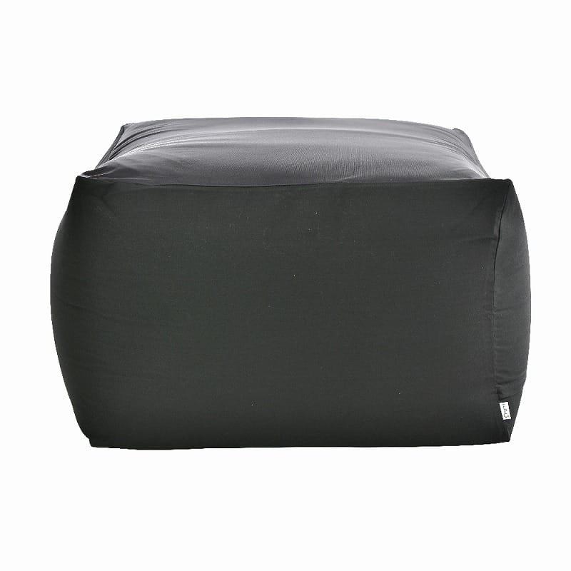ビーズクッション アースカラーキューブチェアLサイズ ブラック