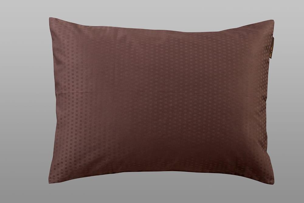 クレモナ(ビターブラウン)ピロケースM:綿100%で安心