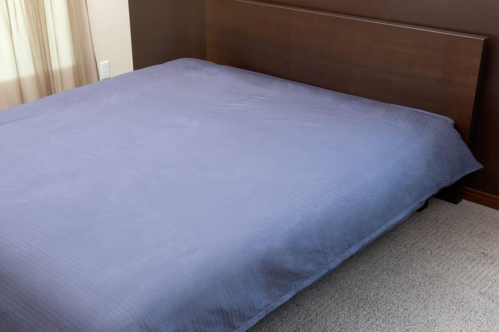 クレモナ(スレートブルー)掛布団カバーSD:綿100%で安心