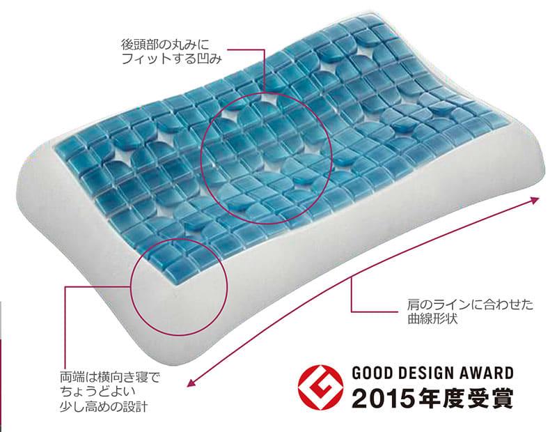 枕 テクノジェルコントアーピロー�U(高さ9cm)